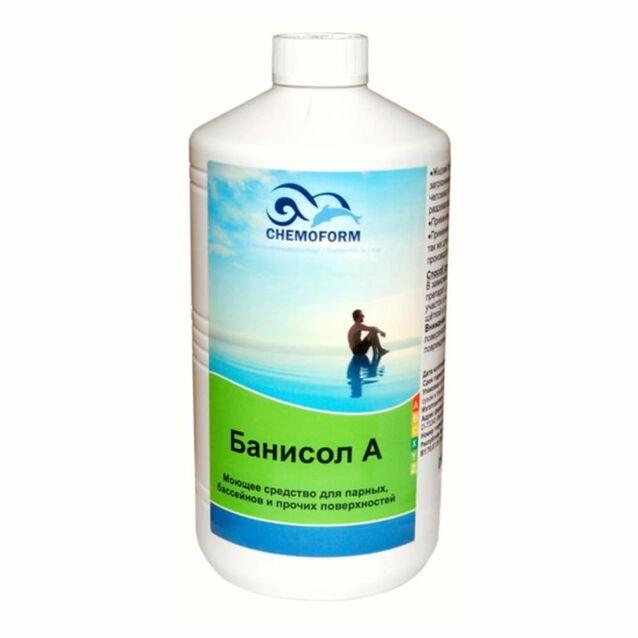 Очиститель Чистая Парная Банисол А жидкий Chemoform 1331001, 1 л. Средство для очистки на основе алкалоидов